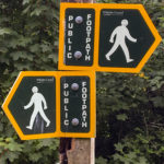 Double Public Footpath signs