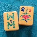 A pair of Mah-Jong blocks