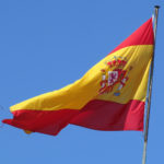 Spanish flag in wind