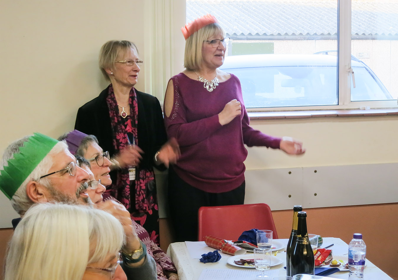 Views of Christmas Party 2018 - enjoying the singing