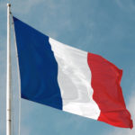 A French flag in the breeze