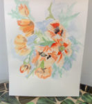 Unframed floral watercolour painting