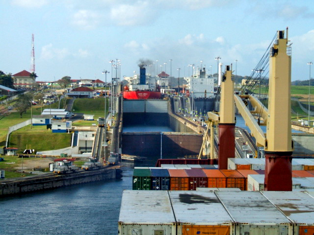 Through the Panama Canal by Container Ship